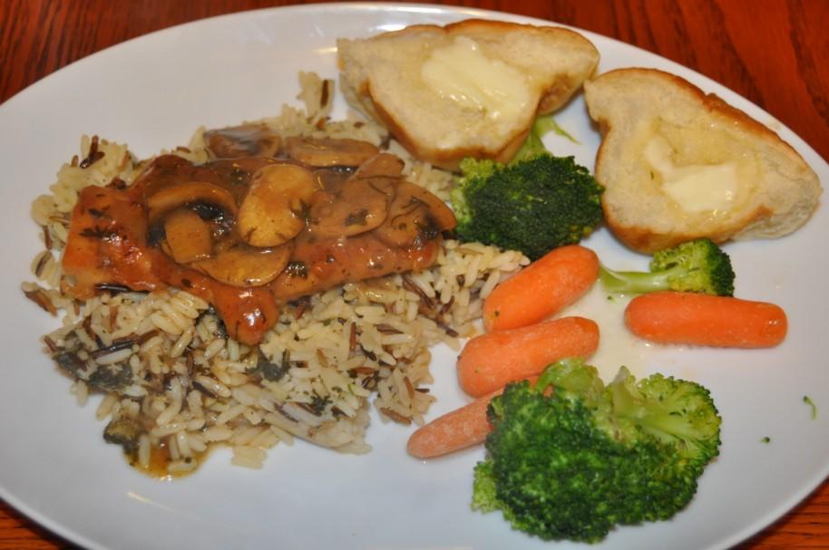 chicken marsala-serving suggestion