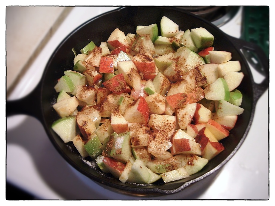 apple-crisp-cast iron
