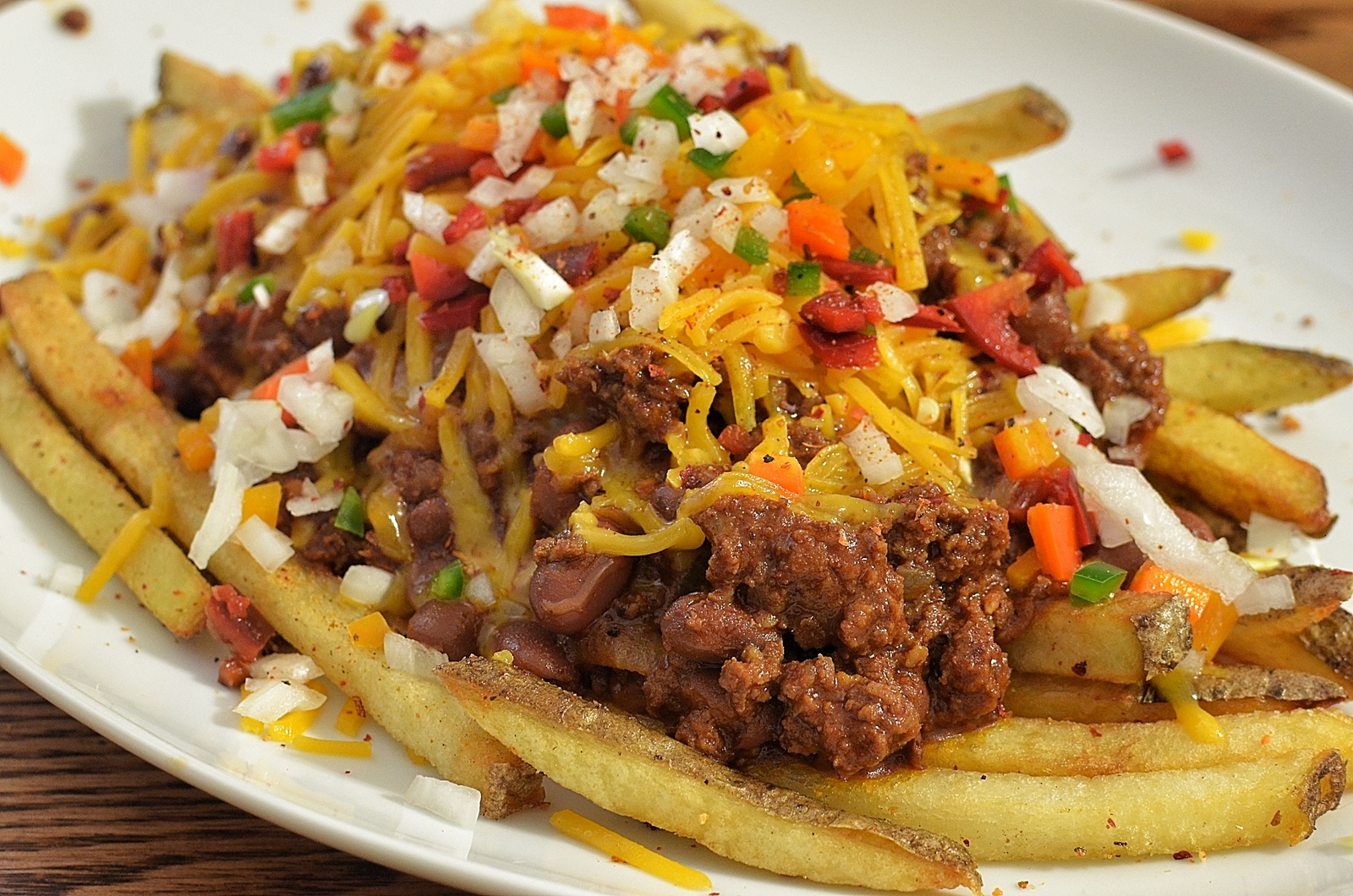 Nothing Says Thanksgiving Like Chili Cheese Fries