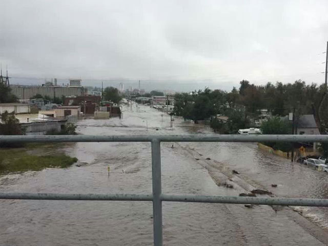 View of flooding in Longmont