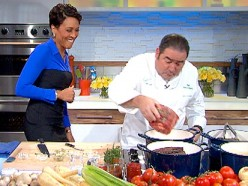 Robin Roberts and Emeril Lagasse