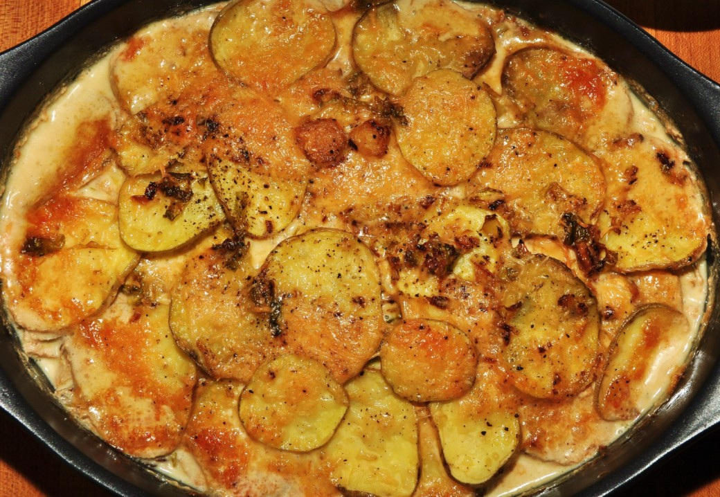 JeffreyW's Roasted Brussels Sprout and Potato Gratin
