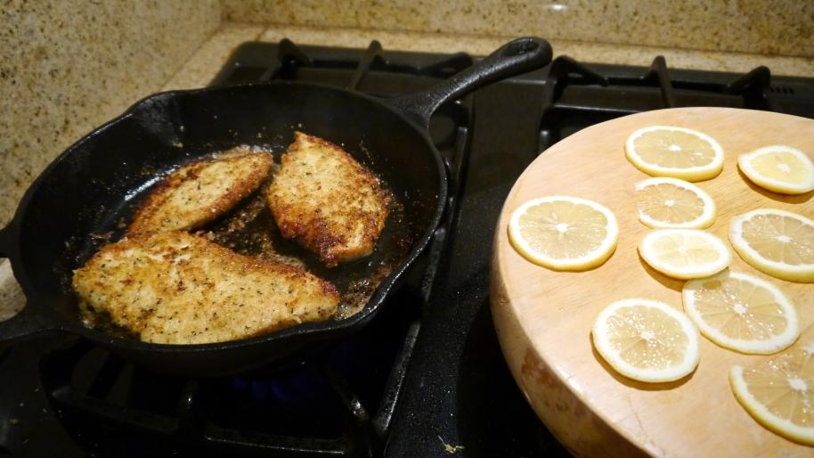 Chicken Piccata prep