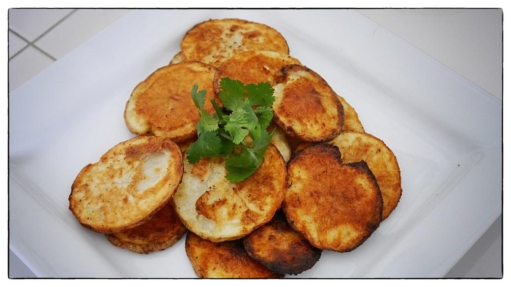 Oven potato chips