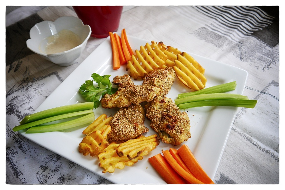 Sesame chicken fingers