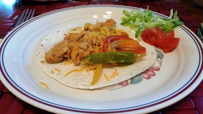 fajita dinner plate